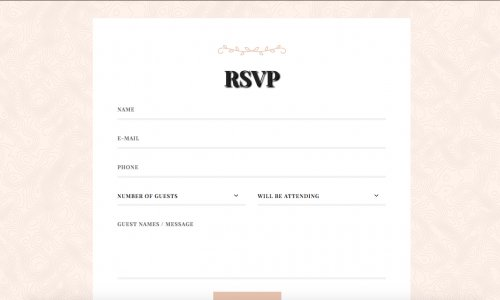 RSVP website form example