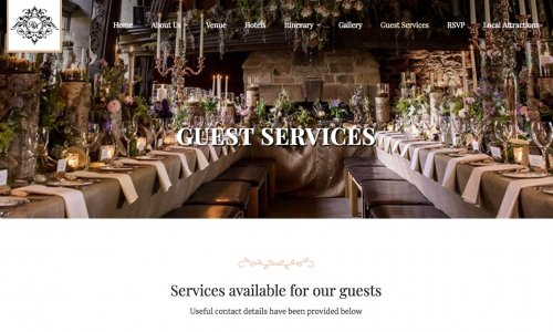 Website example of guest services